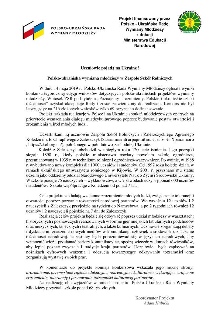 O wygranym projekcie POL- UKRA. na www starostwa  16.05.2019.jpeg