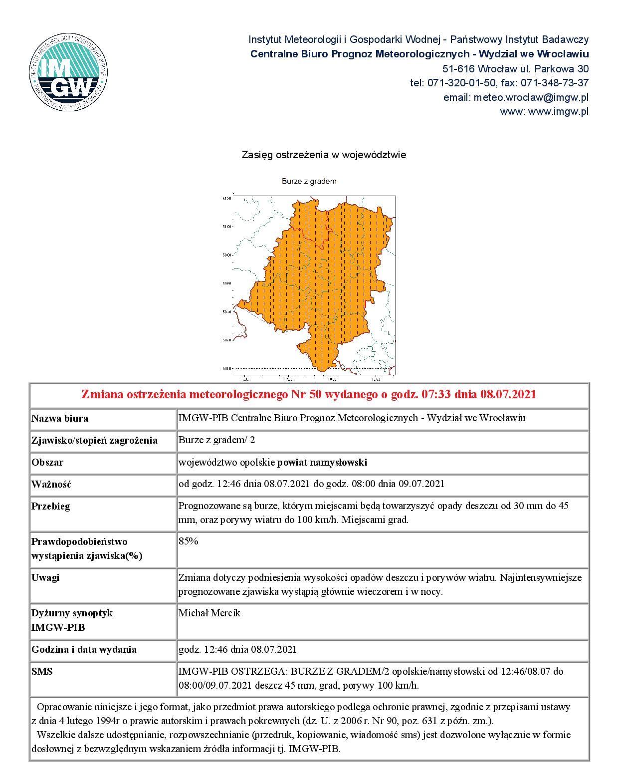 Ostrzezenie - powiat namyslowski 20210708.jpeg