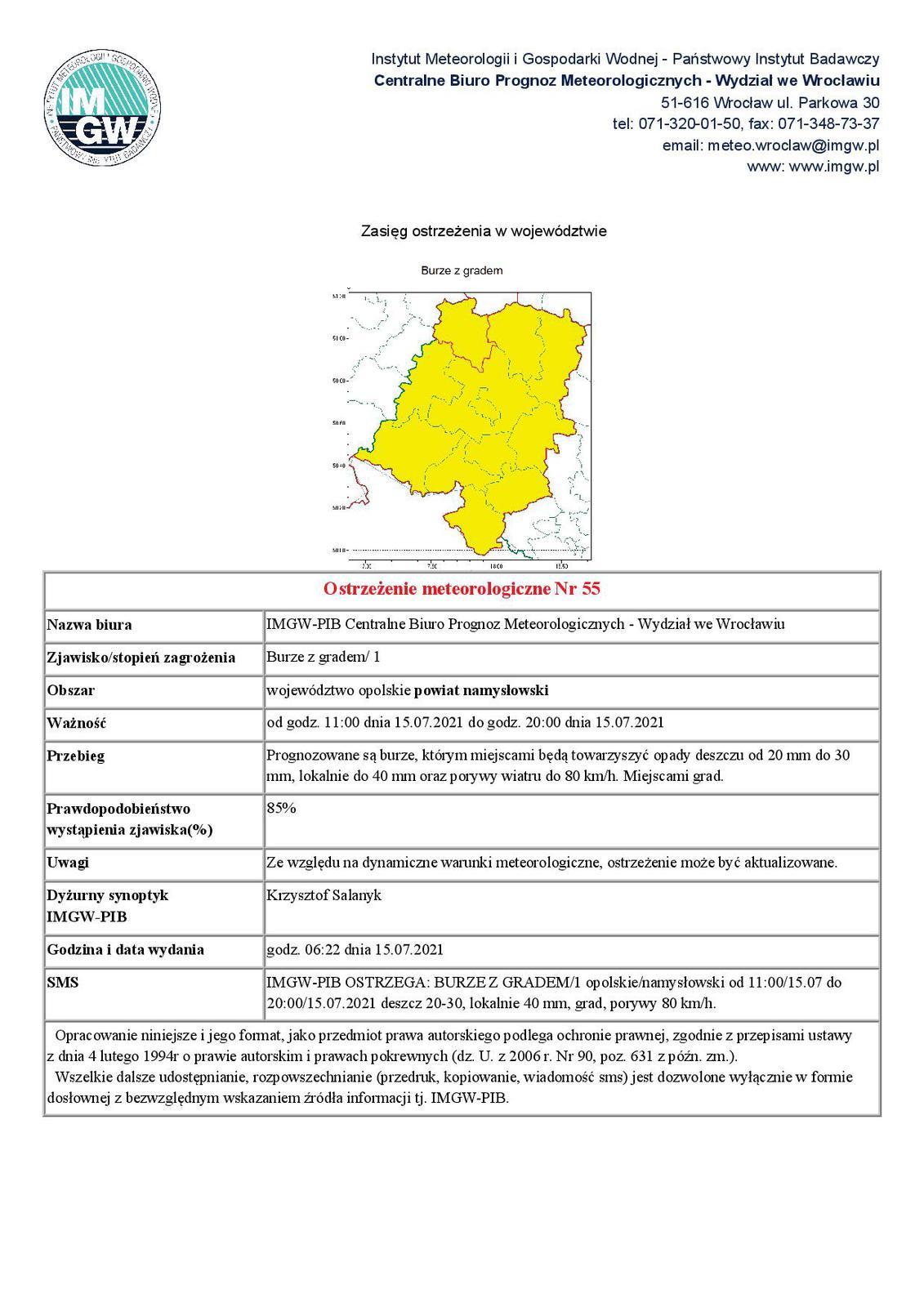Ostrzeżenie meteorologiczne nr 55 Burze z Gradem.jpeg