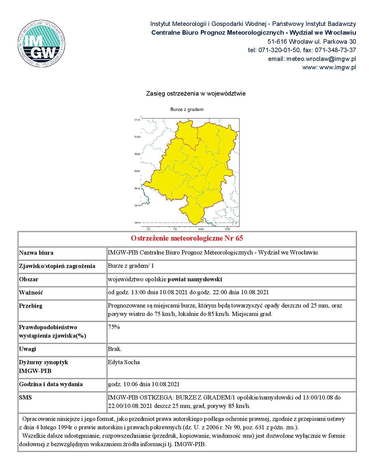 Ostrzezenie - powiat namyslowski 20210810.jpeg