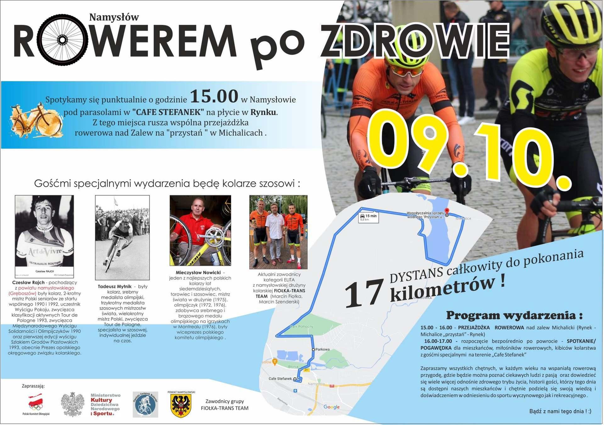 Plakat Rowerem po zdrowie Namysłow.jpeg