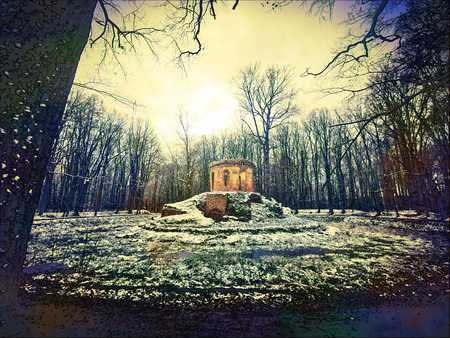 Ruiny Salonu Wodnego zwanego potocznie Herbaciarnią w Pokoju - gmina Pokój, powiat namysłowski (fot. Barbara Jarmuszewska)