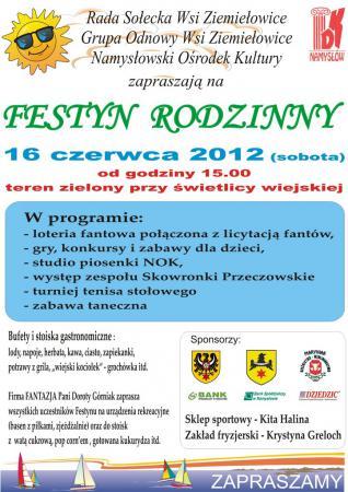 Festyn w Ziemiełowicach - plakat.jpeg